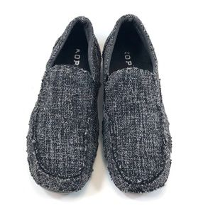 Roper Shoes - Roper Gray sz 7.5 Tweed Slip on Loafers